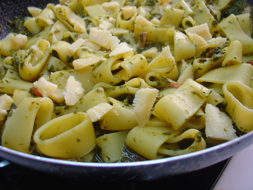 pasta e spinaci 4