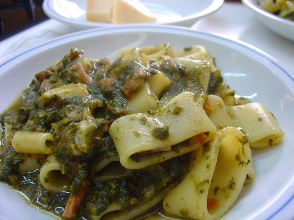 pasta e spinaci