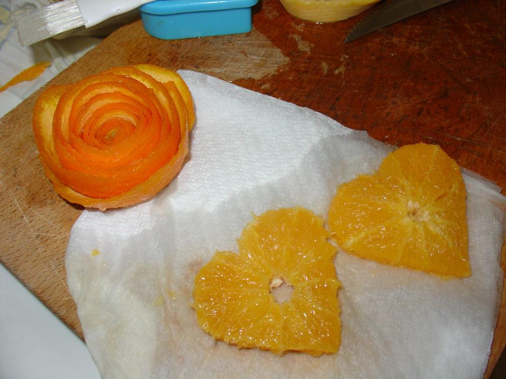 fiore con buccia di arancia