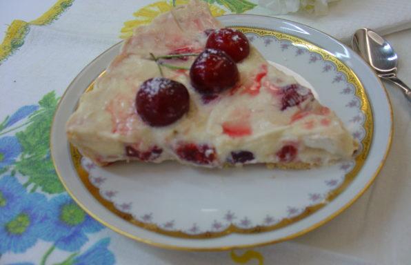torta con ciliege