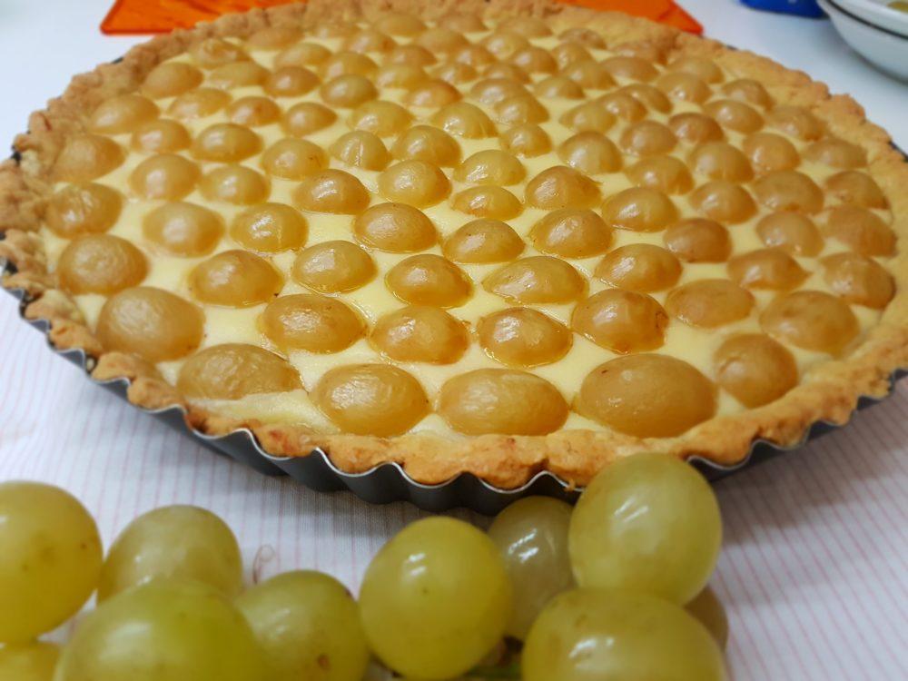 crostata con pasta frolla con olio