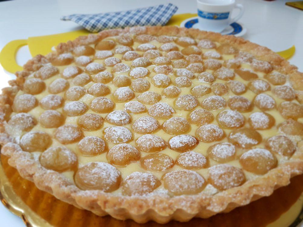 crostata con crema e uva bimby