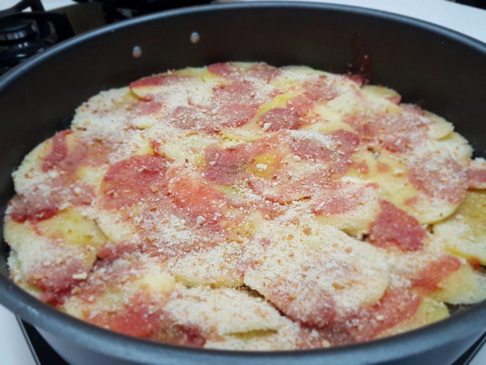 patate e friggitelli al forno