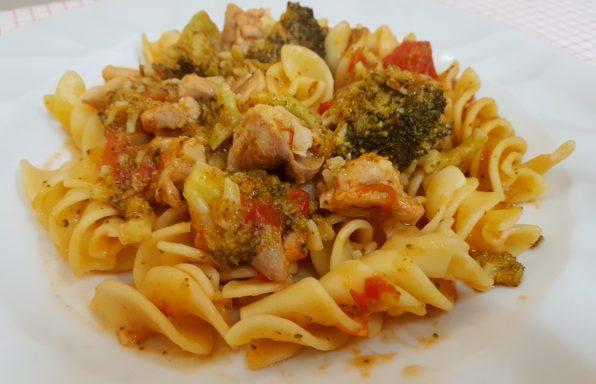 pasta con broccoli e pollo bimby