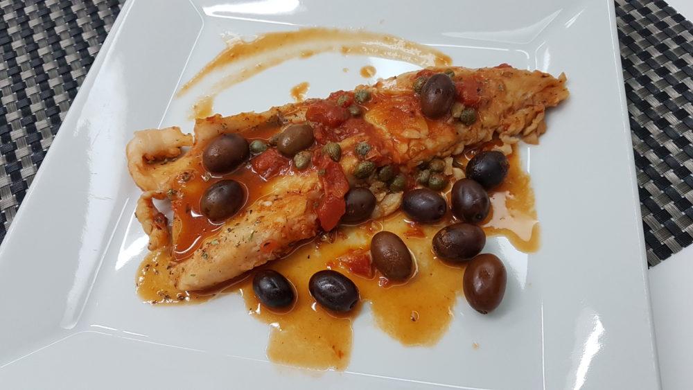 filetto di pesce alla livornese