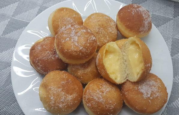 bomboloni alla crema bimby ( krapfen )