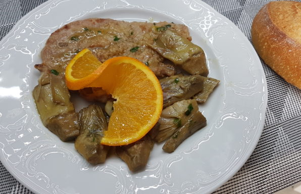 scaloppine di vitello con carciofi
