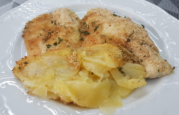 filetti di spigola con patate