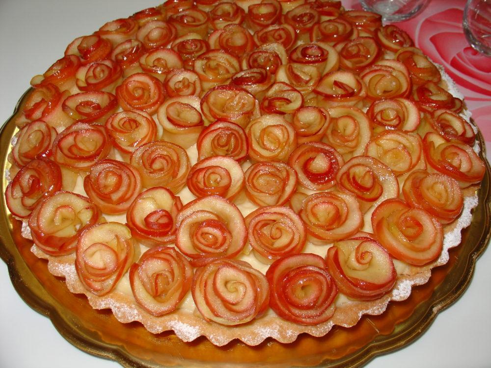 crostata di crema alle mele