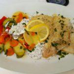 filetto di pesce e verdure a vapore