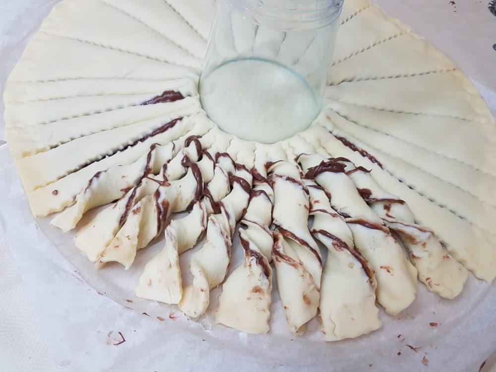 torta nutella con pasta sfoglia